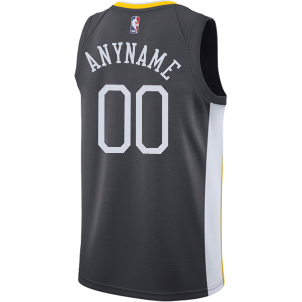 9fe5d792134 ... uk golden state warriors nike dri fit mens the town custom swingman  jersey grey golden state