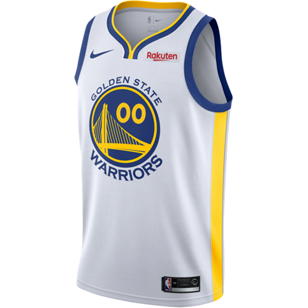 Golden State Warriors Nike Dri-FIT Youth Custom Swingman Association Jersey  - White 3e075a5a4