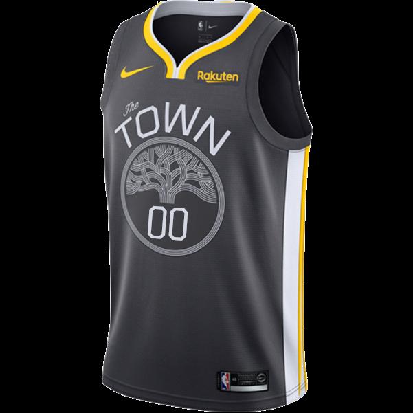 1beca7d02efb Golden State Warriors Nike Dri-FIT Men s  The Town  Custom Swingman Jersey  - Grey